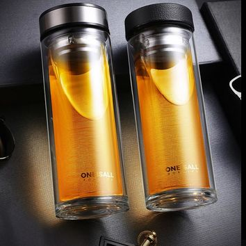 Double Layer Glass Water Bottle