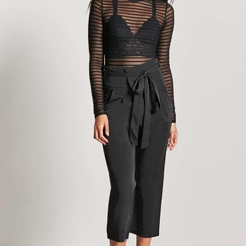 Mesh Shadow-Stripe Bodysuit