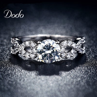 White Gold Plated CZ Diamond Vintage
