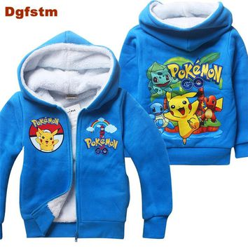 Pokemon Go Winter Jacket For Boy Kids Hooded