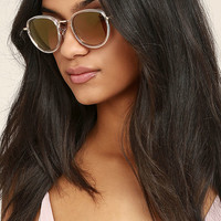 Bupkis Gold and Clear Sunglasses