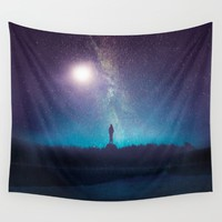 A new beginning V Wall Tapestry by Viviana Gonzalez