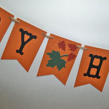 Harvest Banner Autumn Garland Halloween Bunting Fall Decor Photo Prop