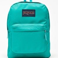 JanSport Superbreak Spanish Teal School Backpack - Womens Backpack - Blue - One
