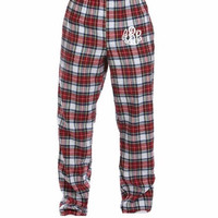 Christmas/ Holiday Pajama Pants- Monogrammed