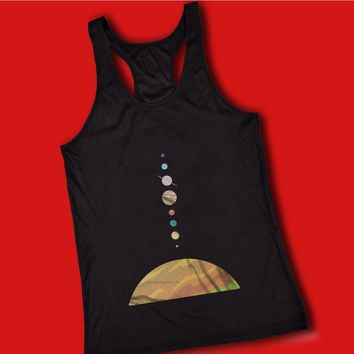 Space Solar System Space Art Nursery Adventure Awaits Women'S Tank Top