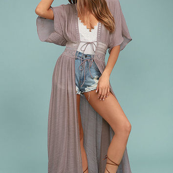 Carried Away Mauve Embroidered Maxi Top