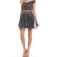 GB Social Off The Shoulder Lace Two-Piece Dress | Dillards