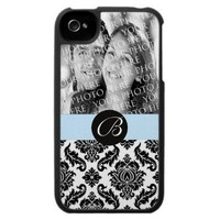 Stylish Monogram Damask  iphone 4 case from Zazzle.com