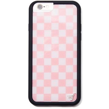 Pink Checks iPhone Case