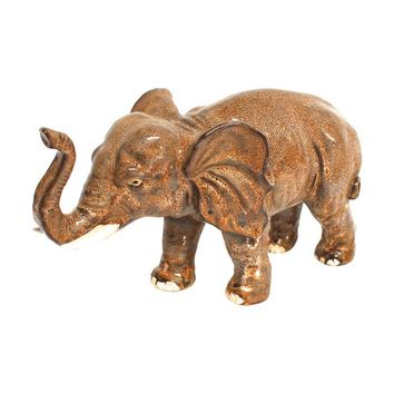 Pre-owned Large Ceramic African Elephant Statue