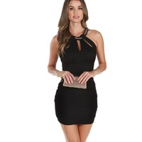 Black Crushin On You Bodycon Dress