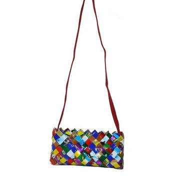 Recycled Candy Wrapper Clutch Bag Purse