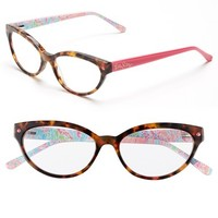 Women's Lilly Pulitzer 'Sandpiper' 52mm Reading Glasses - Pink Tortoise/ Hibiscus
