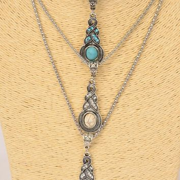 Antiqued Silver Marcasite Pendant Necklace