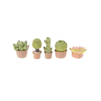 1PCS 1:12 Mini Miniature Green Plant In Pot For Dollhouse Furniture Decoration Succulent plants