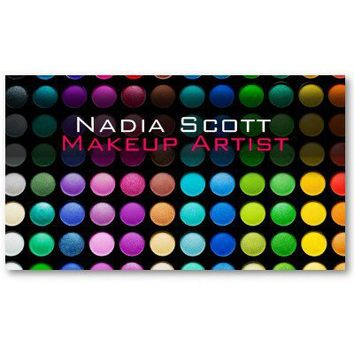 Makeup Artist Palette Business Card Bright from Zazzle.com