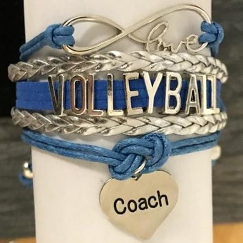 Volleyball Charm Bracelet- Pick Charm