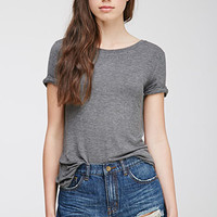 Cuffed-Sleeve Tee
