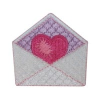 ID 3221 Valentine's Day Love Letter Patch Heart Embroidered Iron On Applique