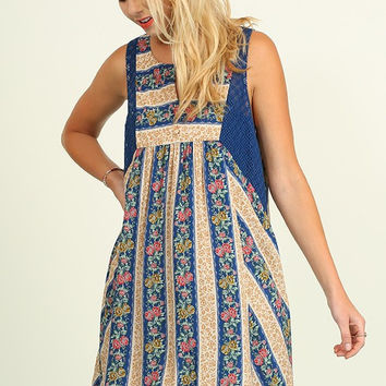 Cottage on the Lake Dress - Blue Mix