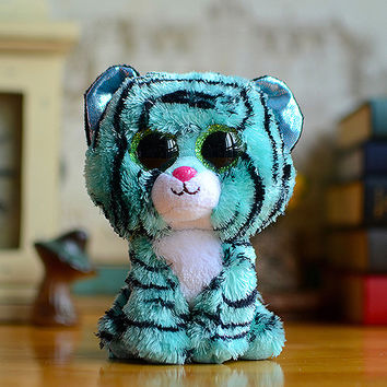 Ty Big Eyes Beanie Boos Kids Plush Toys Wise Owl With Scarf Lovely Children's Christmas
