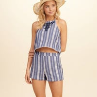 Girls Tassel Crop Top | Girls New Arrivals | eu.HollisterCo.com