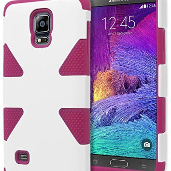 Samsung Galaxy Note 4, Hybrid PinkWhite  Protective Case Cover