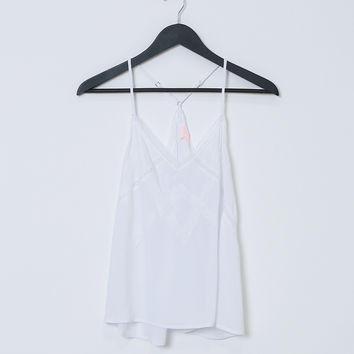 I Want It All Tank Top - White Lace