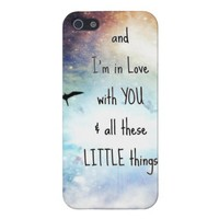 Little Things Lyrics - bird iphone 5 case from Zazzle.com