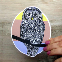 Barred Owl Vinyl Waterproof Decal