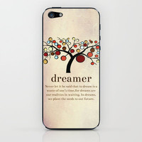 Dreamer iPhone & iPod Skin by Tatiana Barrantes | Society6