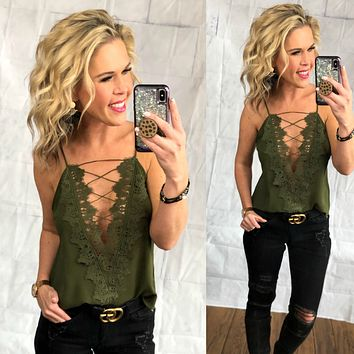 Making a Statement Cami: Olive