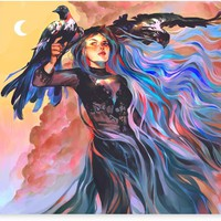 'Witch of Changing Skies' Canvas Print by Syd Mills
