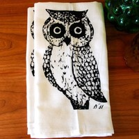 Supermarket - Owl Towel Set of Two from Branch Handmade