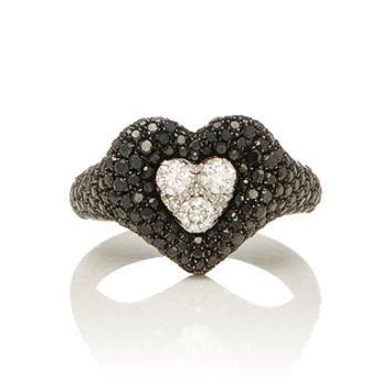 Diamond Heart Pave Pinky Ring | Moda Operandi