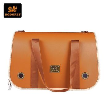 Fashion Luxury Leather Designer Dog Carrier
