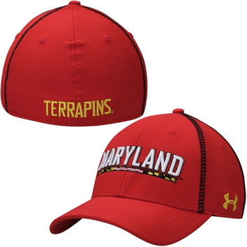 Maryland Terrapins Under Armour 2014 Sideline Huddle II Performance Flex Hat – Red