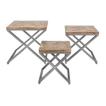 Yellen X-Leg Wood Tables (Set of 3) | Overstock.com Shopping - The Best Deals on Coffee, Sofa & End Tables