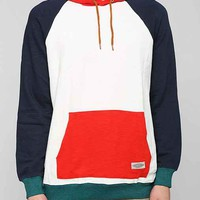 CPO Colorblock Pullover Hoodie Sweatshirt - White XL