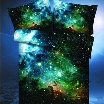 3D bedding sets Star war duvet cover set Galaxy Sky Bed Set Outer Space Bed Linens Twin/Queen Size 3D bedclothes bed set cotton