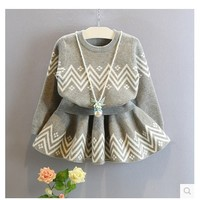 new 2017 spring autumn kids clothing fashion grey baby girls clothes sets long sleeve sweater + skirt children tracksuit-in Clothing Sets from Mother & Kids on Aliexpress.com | Alibaba Group