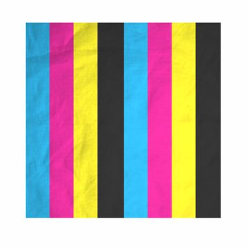 Double CMYK Rainbow Scarf