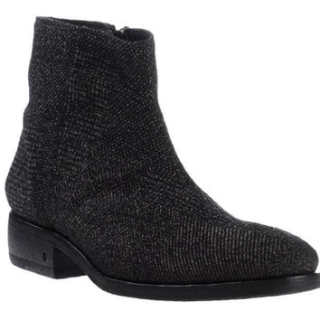 John Varvatos Men's Herringbone Ankle Boots