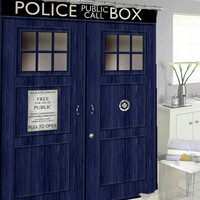 doctor who Shower Curtains