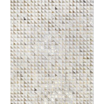 Yerra Triangles Cowhide Rug