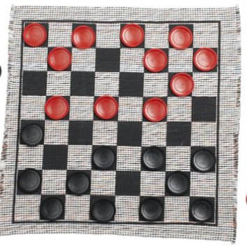 Jumbo Checker Rug Game '