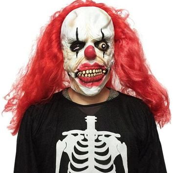 DCCKF4S Halloween Party Cosplay Mask Funny Scary Ghost Clown Joker Full Face Costume