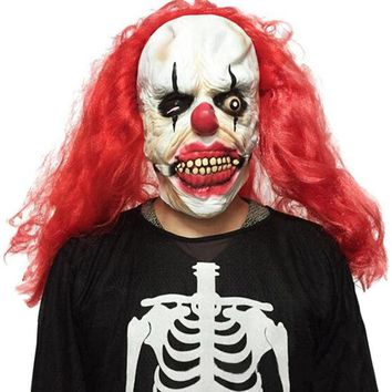 DKF4S Halloween Party Cosplay Mask Funny Scary Ghost Clown Joker Full Face Costume