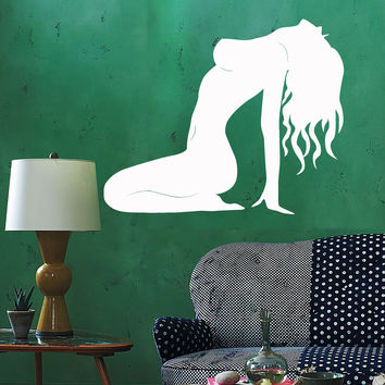 Vinyl Wall Decal Silhouette Hot Sexy Woman Adult Stickers (ig3899)